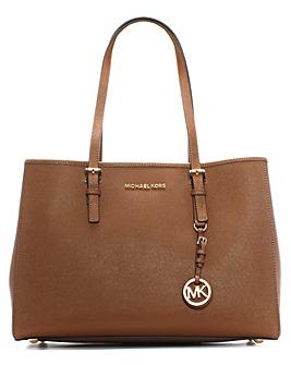 Michael Kors Jtst Trvl Large Tan Bag