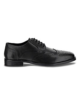Crompton Leather Brogue Wide Fit
