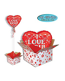 Silver Love Valentines Day Balloon