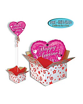 Happy Valentine Pink Foil Balloon in Box