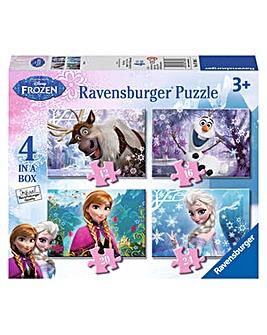 Disney Frozen 4 in a Box Jigsaw Puzzle