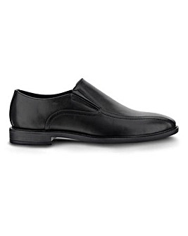 Elton Leather Look Slip On Shoe Extra Wide Fit