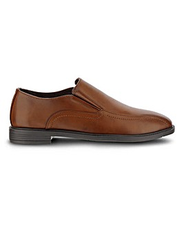 Elton Leather Look Slip On Extra Wide