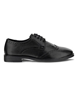 Leather Look Classic Brogue Ex Wide Fit