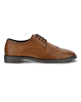 Griffin Leather Look Brogue Ex Wide Fit
