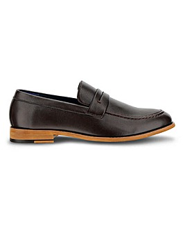 Leather Look Loafer Wide Fit