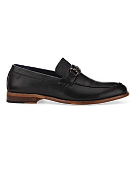 Leather Look Snaffle Loafer Wide Fit
