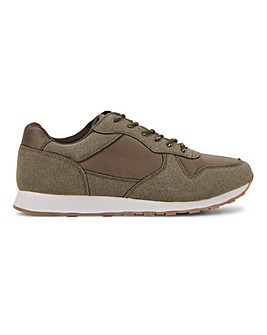 Dean Suede Runner Look Trainer Wide Fit