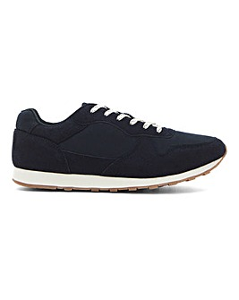 Dean Suede Look Runner Trainer Wide Fit
