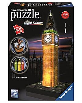 Big Ben with Light 3D Puzzle 216 Piece