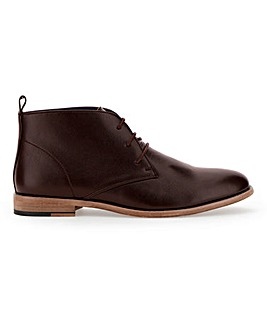 Leather Look Chukka Boot Wide Fit