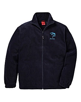 Personalised Fishing Zip Up Fleece