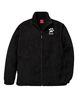 Personalised Dog Walking Zip Up Fleece
