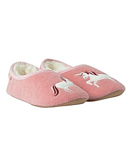 Joules Unicorn Slipper and Soft Toy Set