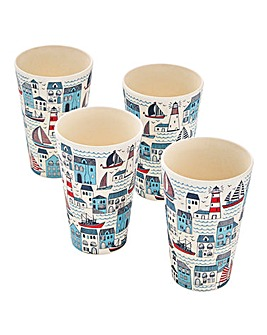 Plymouth Bamboo Set of 4 Cups