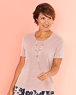 Slinky T Shirt with Necklace