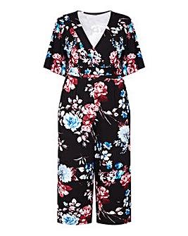 Mela London Curve Floral Print Jumpsuit