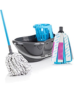 Minky Set of 2 Mops with FREE Bucket