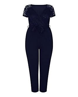 Mela London Curve Wrap Front Jumpsuit