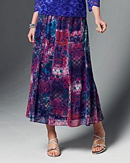 Nightingales Panelled Chiffon Skirt