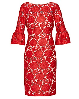 Gina Bacconi Genoveva Embroidered Dress