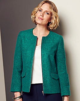 Boucle Green Jacket