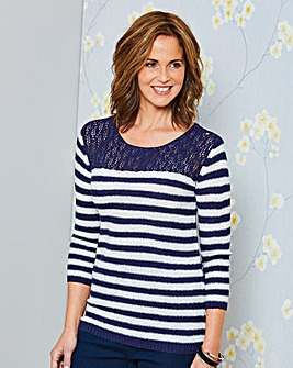 Pointelle Stripe Jumper