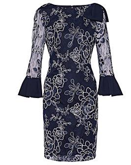 Gina Bacconi Melina Embroidered Dress