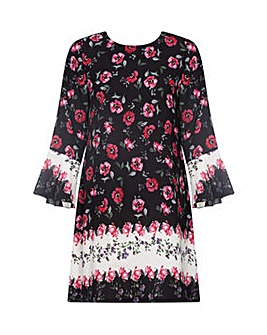 Yumi Curves Rose Printed Tunic