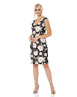 Roman Floral Bonded Lace Floral Dress