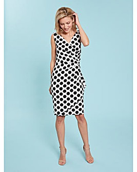 Gina Bacconi Isalia Scuba Wrap Dress