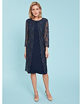 01eccfeac1 Gina Bacconi Dailyn Crepe And Lace Dress