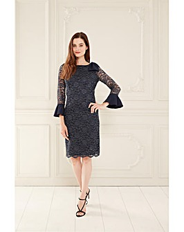Gina Bacconi Adabella Cuff And Bow Dress