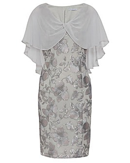 Gina Bacconi Bolina Embroidered Dress