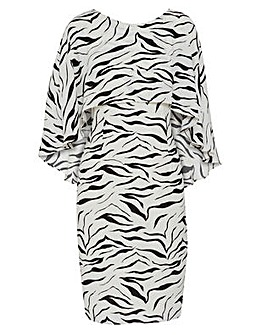Gina Bacconi Riona Zebra Print Dress