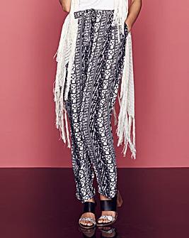 Print Woven Trousers Regular