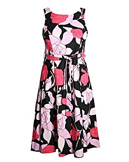 Lovedrobe GB Floral Skater Dress