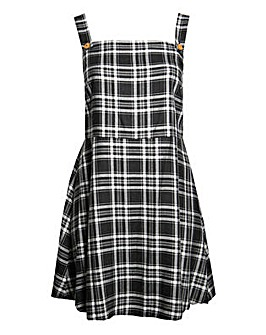 Lovedrobe GB Check Pinafore Dress