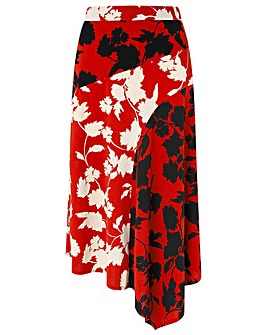 Monsoon Penelope Print Midi Skirt
