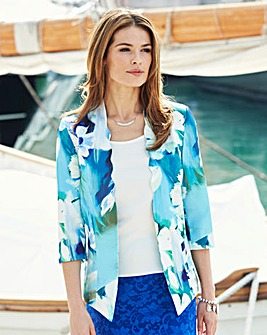 Satin Scallop Jacket