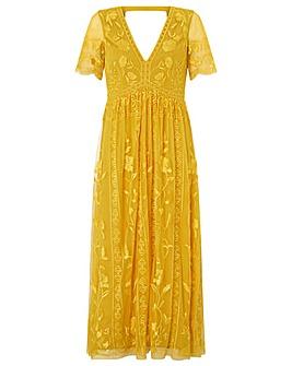 Monsoon Valentina Embroidered Midi Dress