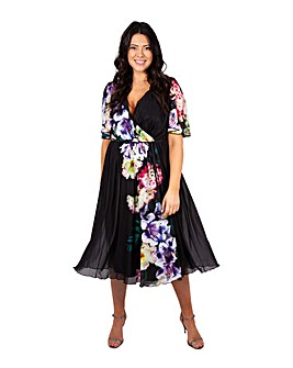 Scarlett & Jo Tropical Midi Wrap Dress