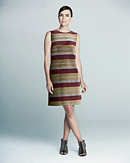 GB Edit Sequin Stripe Shift Dress