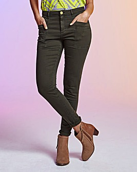 Slim Leg Chino Trousers - Long