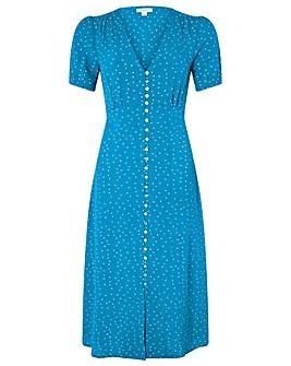 Monsoon Oliver Spot Midi Dress