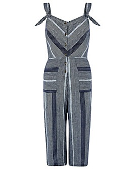 Monsoon William Stripe Linen Jumpsuit