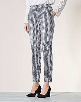 Cotton Sateen Ankle Grazer Trousers