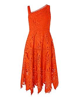 Monsoon Maria Palm Lace Midi Dress