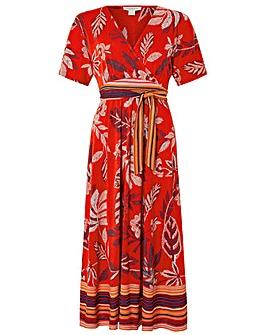 Monsoon Abril Jersey Print Midi Dress