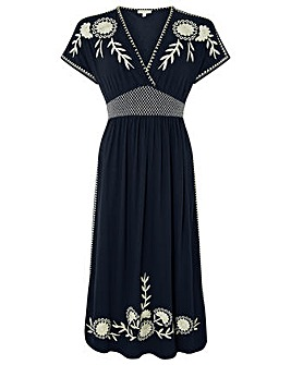 Monsoon Ester Floral Embroidered Dress